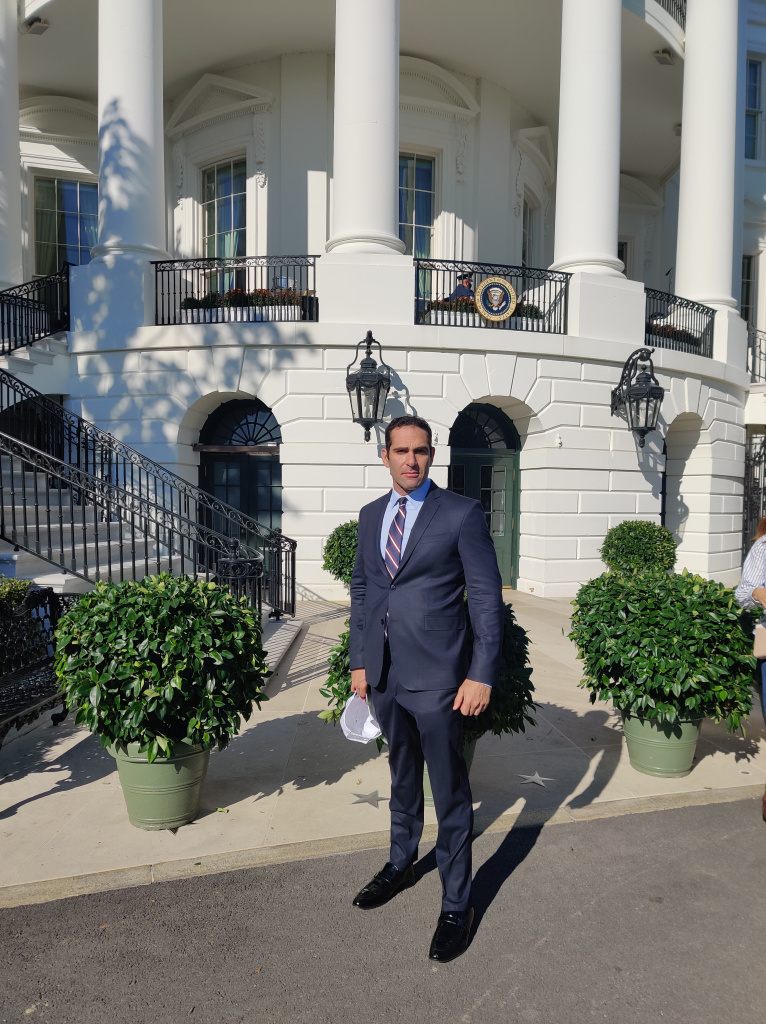 Israel Joffe at the White House