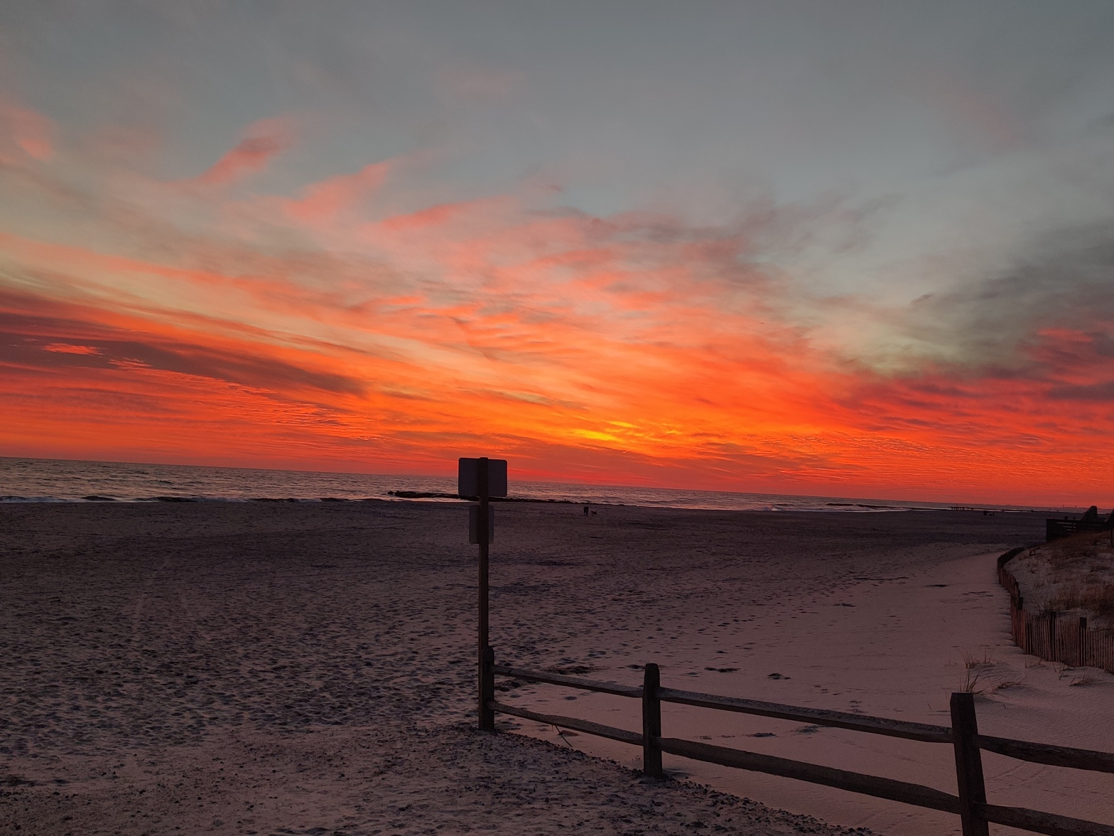 Israel Joffe incredible sunset in Long Beach NY